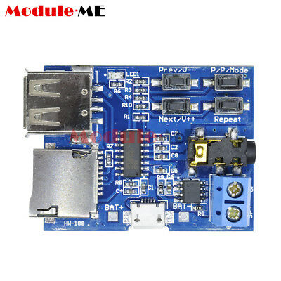MP3 Format U Disk TF Card decoder board module amplifier decoding audio Player M