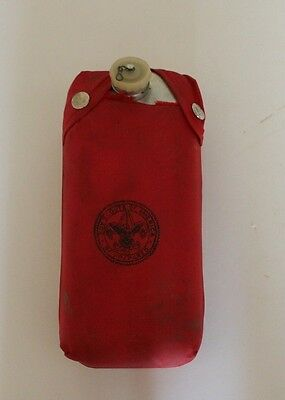 Vintage Boy Scouts of America Be Prepared Canteen with Red Nylon Carrying Bag