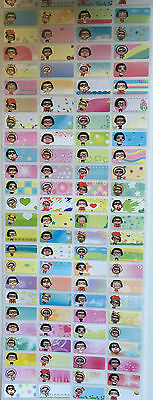 {MyOnlyEstore} 240pcs Cute Girl 22x9mm Personalised Name Stickers Daycare labels