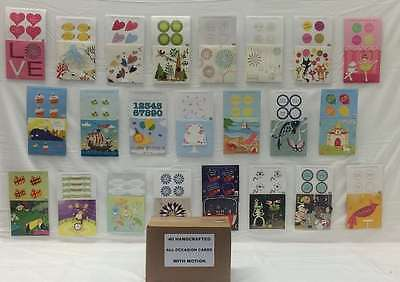 40 Assorted All Occasion Handcrafted Greeting Cards Wth Motion and Box, New