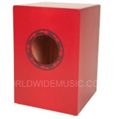 Performance Percussion PP145 Junior Cajon - Red and  incl. Padded Carry Bag