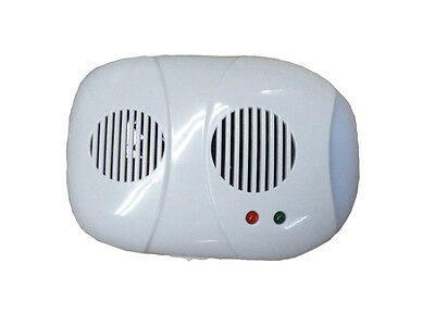 PLUG IN PEST REPELLER with IONIZER mouse rat ultrasonic deterrent home