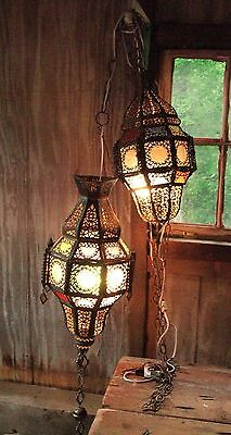 Pair of Antique Hanging Lights from Morocco