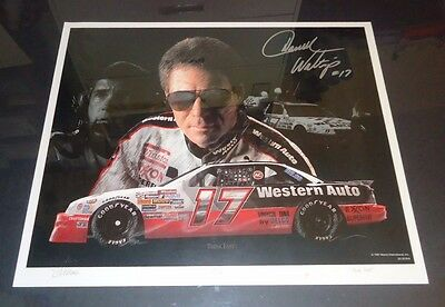 "Darrell Waltrip Autographed Signed ""Think Fast"" Western Auto Print #104 of 400"
