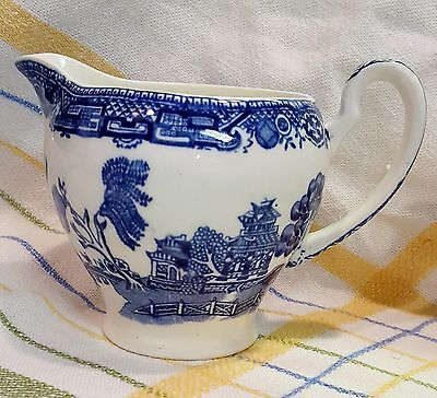 OLD WILLOW Alfred Meakin England 1930's Creamer Blue/White