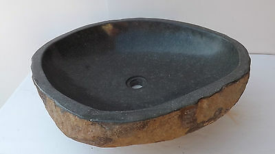 Hand-crafted basin made of natural river stone Sink DP583 cm 60x52x15