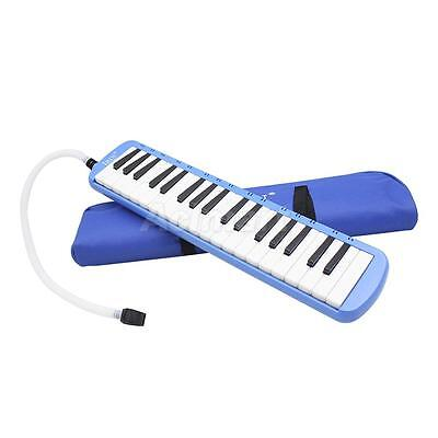 37 Piano Key Melodica Harmonica Music Instrument for Beginners w/ Bag Blue
