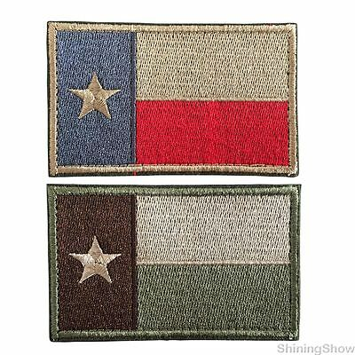 2Pcs Usa Texas Tx State Flag Tactical Morale Patch Us Military Army  Badge