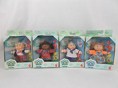 "NEW Lot of 4 Vintage Cabbage Patck Kids Collectible 4.5"" Dolls 1995 Mattel NIB"