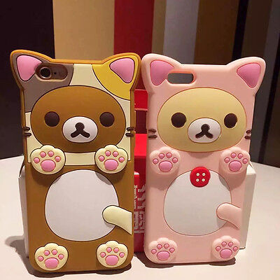 quality design 9d78b 7dccb CUTE TEDDY RILAKKUMA Bear Silicone Rubber Soft Case Cover For iPhone ...