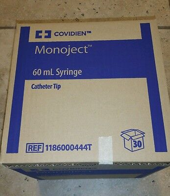 60 ml Syringe Catheter Tip Covidien Monoject 1186000444T -box of 30-
