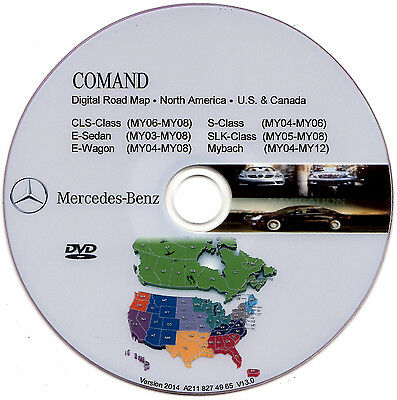 Mercedes Benz W220 W211 W219 W171 W240 NAVIGATION ROAD MAP DVD 2014  N America