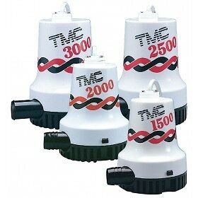 New TMC Bilge Pump 3000 GPH  - 12 volt BLA 131608  Marine Boating Bilge Pumps