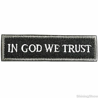 In God We Trust  Tactical Morale Patch USA Military Army Decal Badge Black