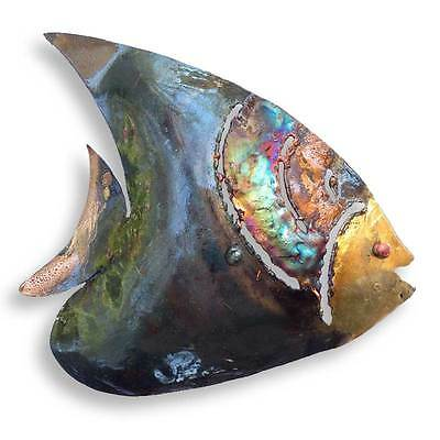 Recycled Metal Angel Fish Wall Hanging - Handmade in Mexico - Fair Trade