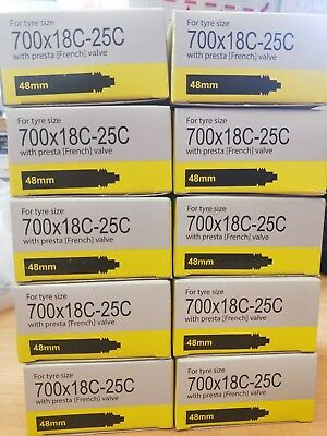 10 x TIOGA 700 X 18 / 23C PRESTA 48mm ROAD BIKE TUBE FRENCH EXPRESS POST