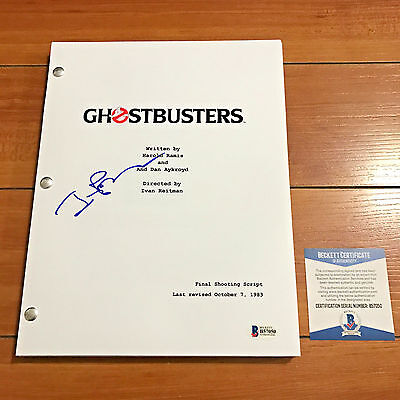 IVAN REITMAN SIGNED GHOSTBUSTERS FULL MOVIE SCRIPT w/PROOF & BECKETT BAS COA