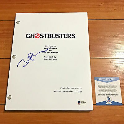 IVAN REITMAN SIGNED GHOSTBUSTERS  FULL MOVIE SCRIPT w/ PROOF AUTOGRAPH