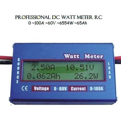 Boat RC Helicopter Watt Meter DC 60V 100A Balance Voltage Battery Power Analyzer