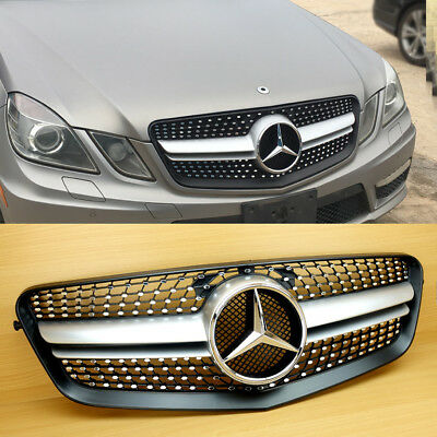 Diamond 10-13 Silver Front Grille For M-Benz E-Class W212 E63AMG Look