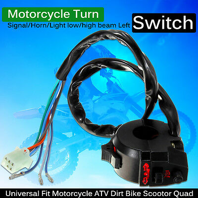 "7/8"" Motorcycle Handlebar Switch Control High/Low Beam Turn Signal Horn Left"