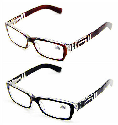Unisex Fashion Reading Glasses Presbyopia lenses With Patterned Temple 1.0~4.0