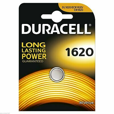 2 x Duracell Batterie CR1620 Lithium 3V Knopfbatterie CR 1620 Knopfzelle Auto