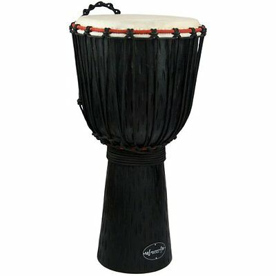 30Cm Student Wooden Djembe Drum By World Rhythm Percussion African Drum In Blac