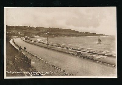 Somerset PORTISHEAD Bay Esplanade looking to Golf Links c1900/20s? RP PPC