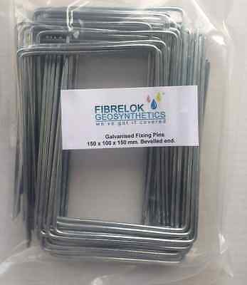 50 Steel Metal Ground Pegs Pins Staples for Weed Control Fabric Membrane Cover