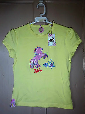 New Girls ** Cute Lemom Tottie T Shirt ** Childs Age 9-10 Years Pony Lover Top