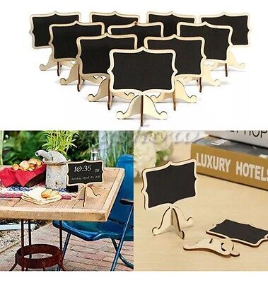 10 X Wooden Chalk Board Stands For Wedding Table Numbers / Names