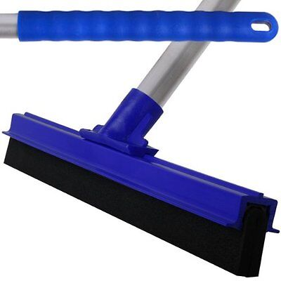 Blue Professional Hard Floor Cleaning Squeegee & Strong Alloy Handle For Tiles