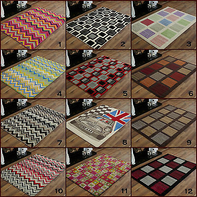 MODERN LARGE EXTRA LARGE MULTI COLOUR 180x270cm CONTEMPORARY AREA RUGS FOR SALE!