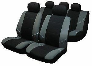Black Grey Car Seat Cover protector set for NISSAN QASHQAI + 2 2010> 7SEATER S4