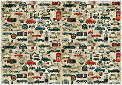 BomoArt Old Cars Wrapping Paper (70cm x 100cm)