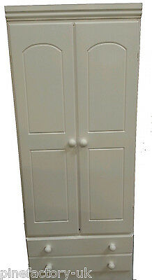 Pine Wardrobe In White Colour        Cash Payment Only