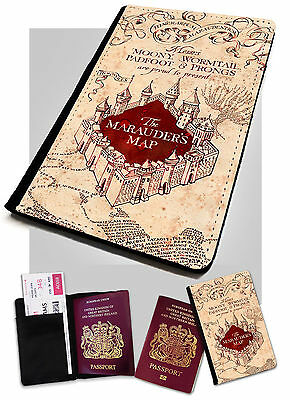 Passport Cover/Holder MARAUDERS MAP Faux Leather Printed Potter Solemnly Swear