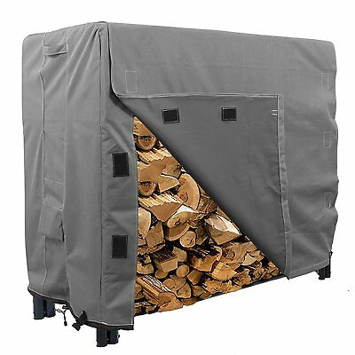 Log Rack Cover Storage 4-Feet Outdoor Protector Firewood Waterproof Khomo Gear