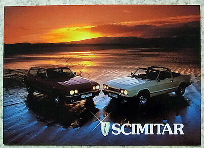 RELIANT SCIMITAR GTE & GTC Car Sales Brochure 1984-85
