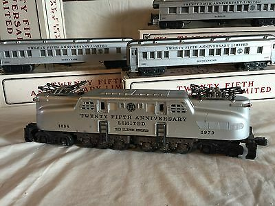Williams O Train 25Th Anniversary Limited GG1 Locomotive & Passenger Cars used
