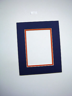 PICTURE FRAME DOUBLE Mat 20x24 for 16x20 photo NavyBlue with red ...