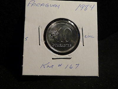 Paraguay : 1984   10 Guaranies   Coin    (Unc.)   (#3767)  Km  # 167