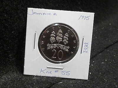 Jamaica:   1975    20 Cents  Coin  Proof  (Unc.)    (#2416)  Km # 55