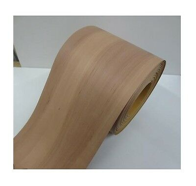 Real wood Veneer Pear tree with Hot melt adhesive iron-on 30 cm Wide