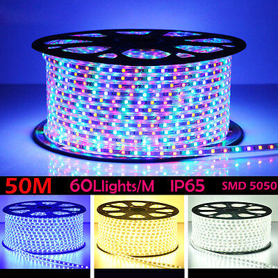 50M 3000LED Party Christmas Lights Wedding Rope Light Waterproof Warm White Blue