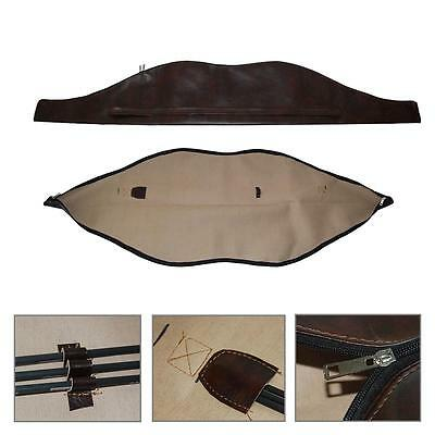 150x27cm Archery Traditional Recurve Bow Carry Bag Case Cover PU Leather Holder