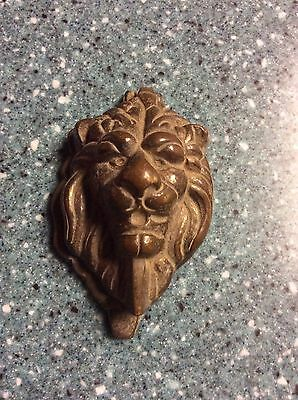 Antique Brass California Door Knocker Mission Arts Crafts  Lions Head Beauty
