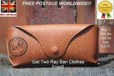 Ray Ban Sunglasses Brown Case/cover /pouch  For Aviator, Clubmaster...