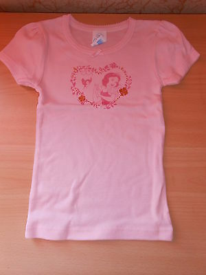 tee-shirt maillot de corps disney BLANCHE-NEIGE rose/or taille 24 mois - neuf